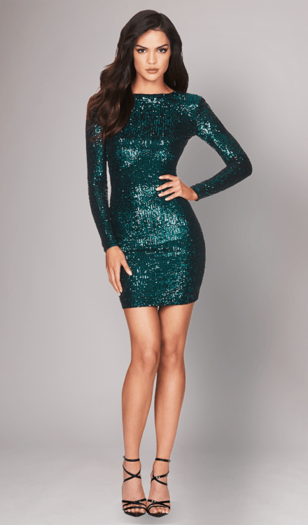 Selena Teal Sequin Dress - Nookie