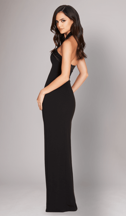 Alias Halter Gown Black - Nookie