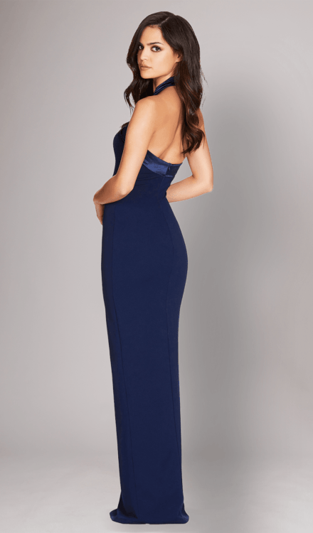 Alias Halter Gown Navy - Nookie