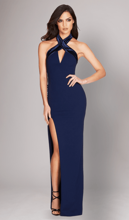 Dress Rental - Alias Halter Gown Navy - Nookie