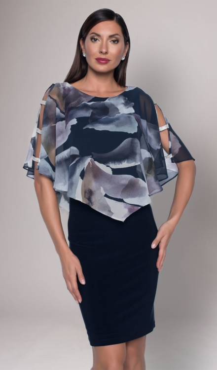 Floral Print Chiffon Dress - Frank Lyman