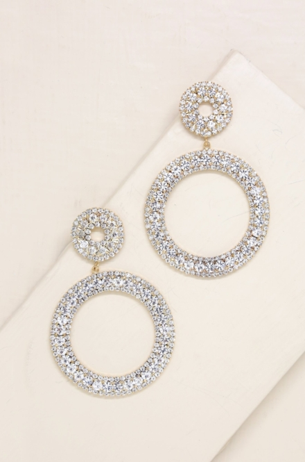 Ettika-Double Crystal Statement 18k Gold Plated Hoop Earrings