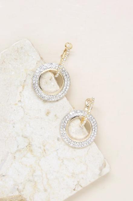 Ettika-Double Drop Crystal 18k Gold Plated Hoop Earrings