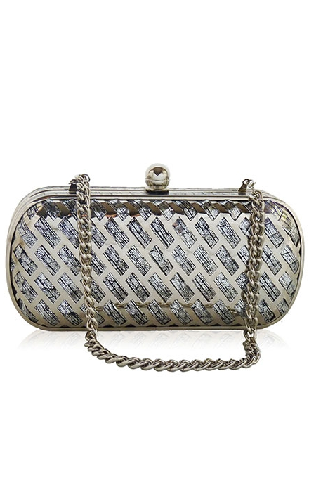 Silver Brooke Watersnake Clutch - Inge Christopher