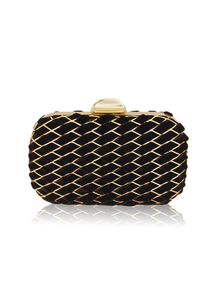 Keira Velvet Black Clutch - Inge Christopher