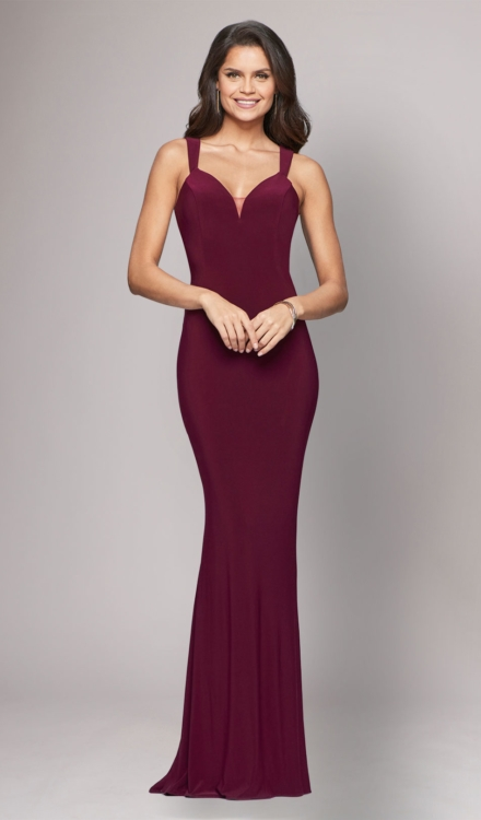 Dress Rental - Jersey V-Neck Gown - Faviana