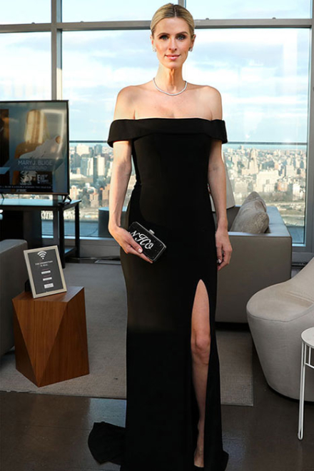 Off Shoulder Gown Faviana- Dress Rental