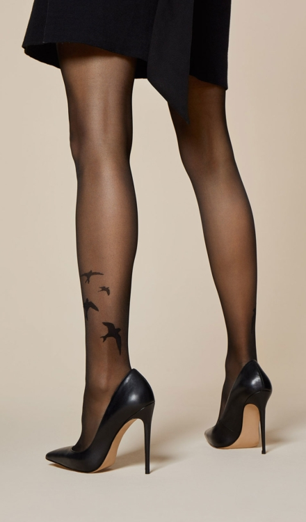 Rondini Printed Tights -Fiore