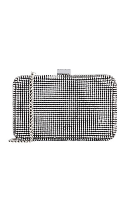 Crystal Yves Minaudiere Box Clutch Purse - Whiting & Davis
