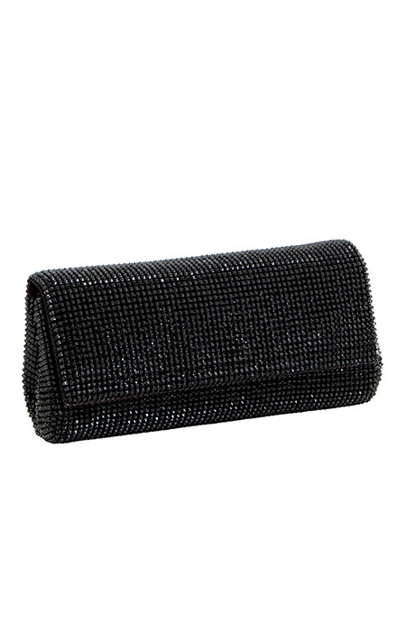 Black Pyramid Mesh Clutch Purse- Whiting & Davis