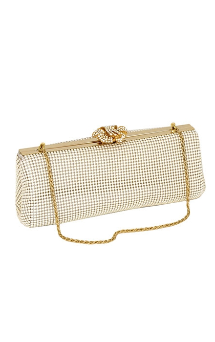 Pearl Flower Clasp Clutch - Whiting & Davis