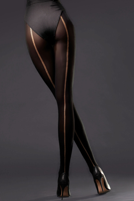 Wild Side Back Seam Tights -Fiore