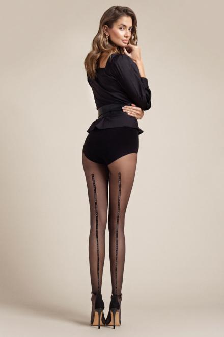 Dalida Black Tights - Fiore