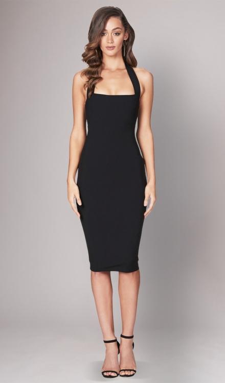 Boulevard Black Midi Dress - Nookie - Dress Rental