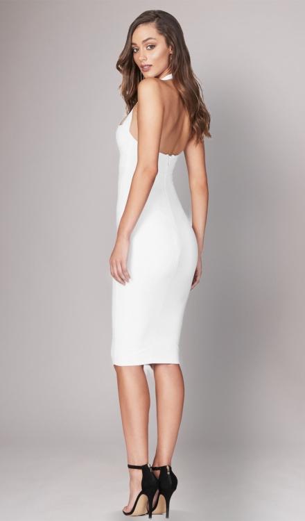 Boulevard White Midi Dress - Nookie - Dress Rental
