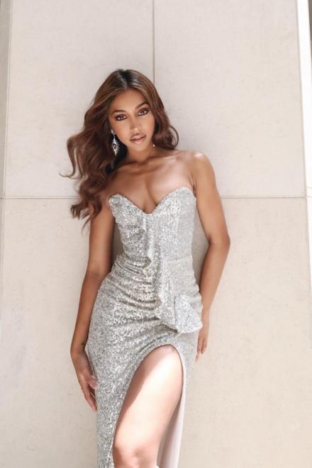 Miss Universe 2020- Maria Thattil- Galaxy Gown - Nookie - Dress Rental