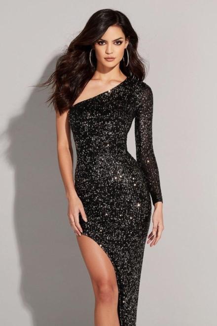 Fortune One Shoulder Gown - Nookie - Dress Rental