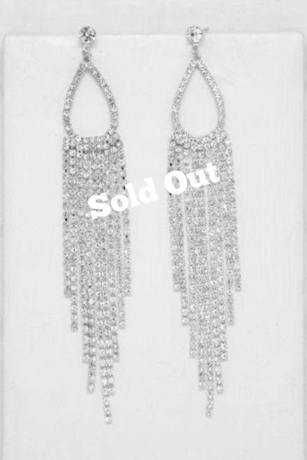 Long Teardrop Crystal Chandelier Earrings - Ettika Jewellery 1